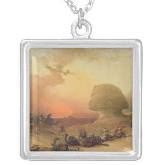 The Sphinx at Giza Silver Plated Necklace