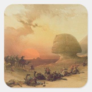 The Sphinx at Giza Square Sticker