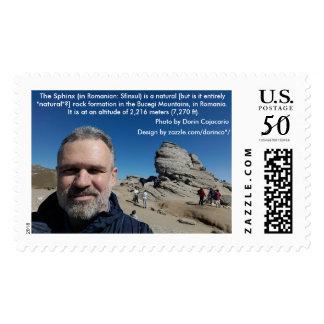 The Sphinx, Bucegi Mountains, Romania (design #2) Postage