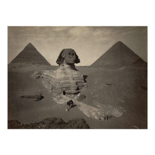 The Sphinx of Giza Partially Excavated Poster