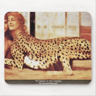 The Sphinx Or The Caresses By Fernand Khnopff Mouse Pad