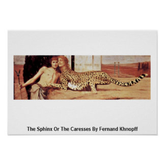 The Sphinx Or The Caresses By Fernand Khnopff Posters