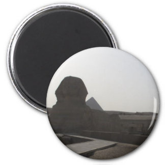 The Sphinx, the Pyramids of Giza 2 Inch Round Magnet