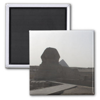 The Sphinx, the Pyramids of Giza 2 Inch Square Magnet