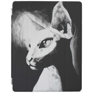 The Sphynx Cat Feline Original Art iPad Cover