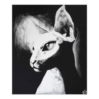 The Sphynx Cat Feline Original Art Photo Print