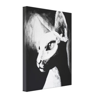 The Sphynx Cat Feline Original Art Wrapped Canvas Stretched Canvas Print