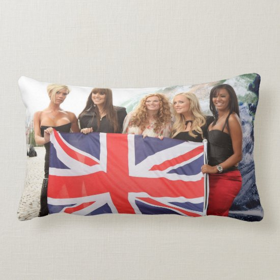 The Spice Girls | British Flag Lumbar Pillow