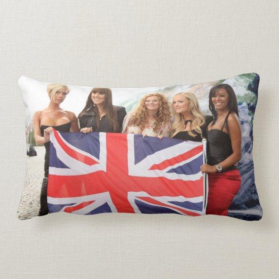 The Spice Girls   British Flag Lumbar Pillow