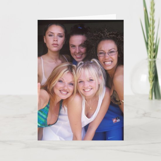 The Spice Girls Photo Shoot Card