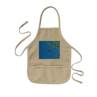 The spider flying kids' apron