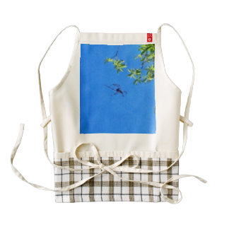 The spider flying zazzle HEART apron