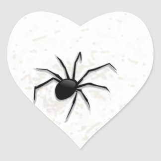 The spider. heart sticker