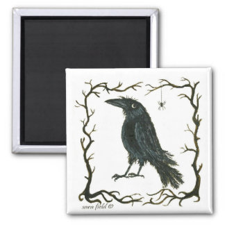 the spider & the crow fridge magnets