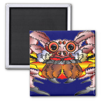 The Spider Totem 2 Inch Square Magnet