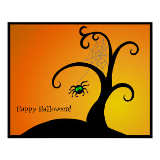 The Spider Tree Halloween Poster
