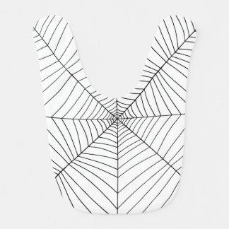 THE SPIDER'S WEB (a black & white design) ~ Bib