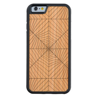 THE SPIDER'S WEB (a black & white design) ~ Carved® Cherry iPhone 6 Bumper