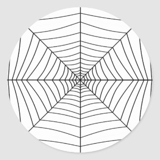 THE SPIDER'S WEB (a black & white design) ~ Classic Round Sticker