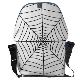 THE SPIDER'S WEB (a black & white design) ~ Messenger Bag