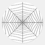 THE SPIDER'S WEB (a black & white design) ~ Sticker