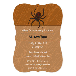 The Spider's Web Party Invitation