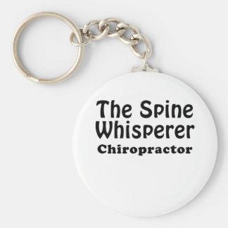 The Spine Whisperer Chiropractor Keychain