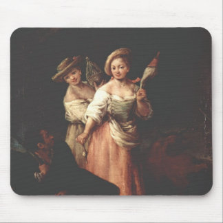 The Spinner by Pietro Longhi Mousepad