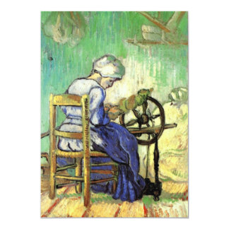 The Spinner by Vincent van Gogh Card