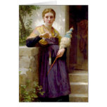 The Spinner - William-Adolphe Bouguereau Greeting Card