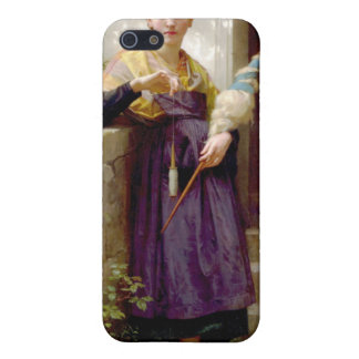 The Spinner, William-Adolphe Bouguereau iPhone SE/5/5s Cover