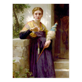 The Spinner, William-Adolphe Bouguereau Post Card
