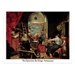 The Spinners By Diego Velazquez Postcards