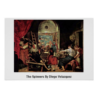 The Spinners By Diego Velazquez Poster