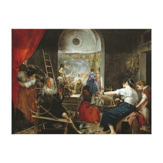The Spinners, or The Fable of Arachne, 1657 Canvas Print