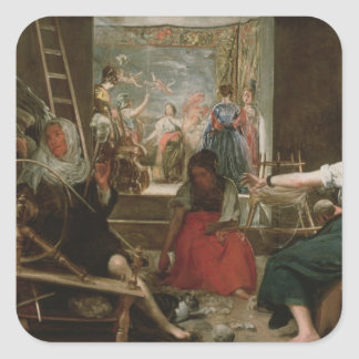 The Spinners, or The Fable of Arachne, 1657 Square Sticker