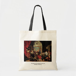 The Spinners The Fable Of Arachne Canvas Bag
