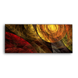 The Spiral of Life Abstract Art #10 Envelope