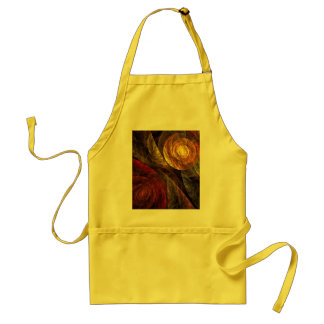 The Spiral of Life Abstract Art Apron