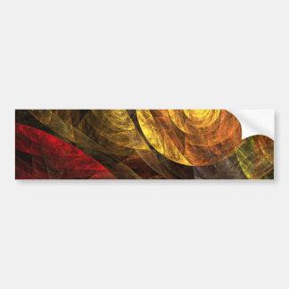 The Spiral of Life Abstract Art Bumper Sticker Car Bumper Sticker