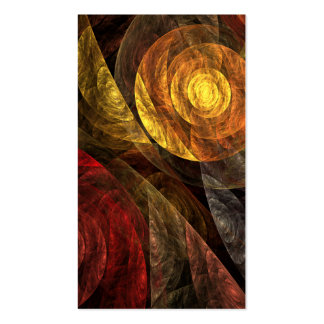 The Spiral of Life Abstract Art Business Card