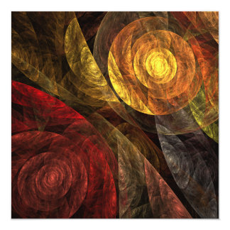 The Spiral of Life Abstract Art Card