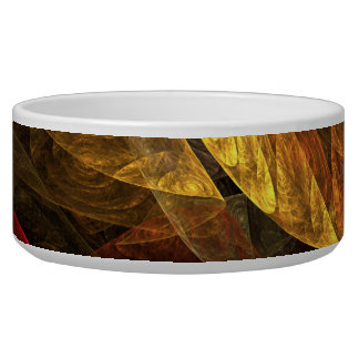 The Spiral of Life Abstract Art Dog Bowl