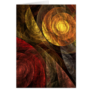 The Spiral of Life Abstract Art Greeting Card