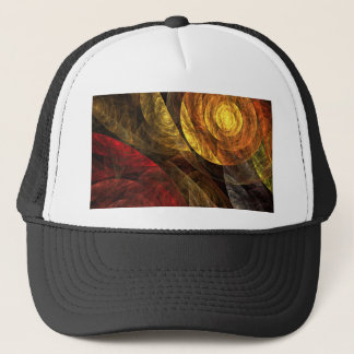 The Spiral of Life Abstract Art Hat
