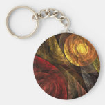 The Spiral of Life Abstract Art Keychain