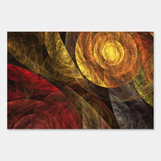 The Spiral of Life Abstract Art Lawn Sign
