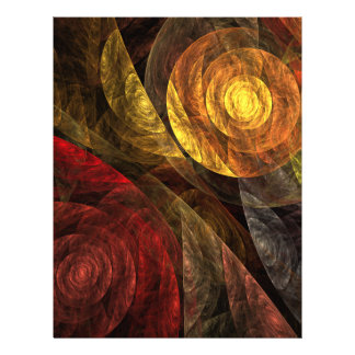 The Spiral of Life Abstract Art Letterhead