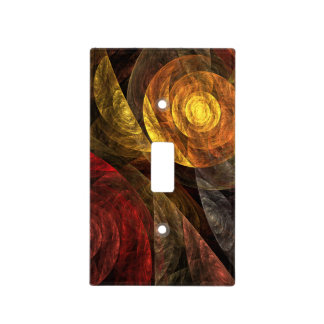 The Spiral of Life Abstract Art Light Switch Cover