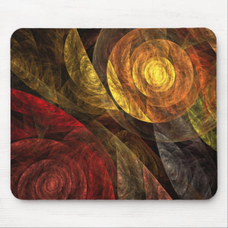 The Spiral of Life Abstract Art Mousepad